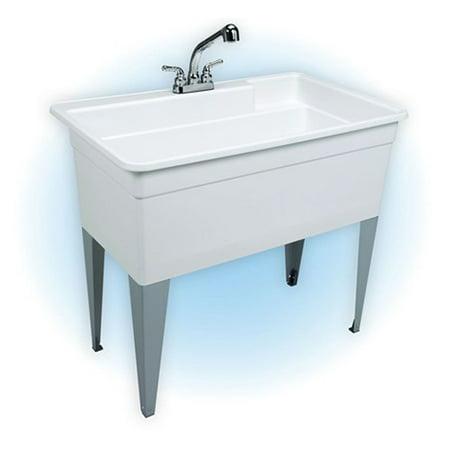 Single Bowl Utility Sink : Mustee 28CF Single Basin Floor Mount Utility Sink Combo - Walmart.com