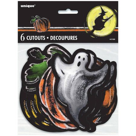 Halloween Cut Out Shapes (Paper Cut Out Ghostly Halloween Decorations, Assorted)
