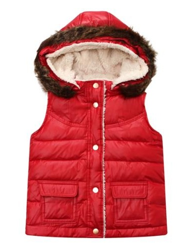 Richie House Girls' Padding Vest with Detachable Hood RH1095-24M