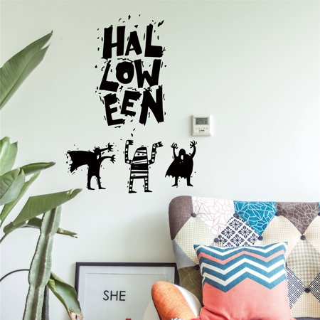 Mosunx Halloween Witch Background Decorated Living Room Bedroom Wall Stickers Grim Rea
