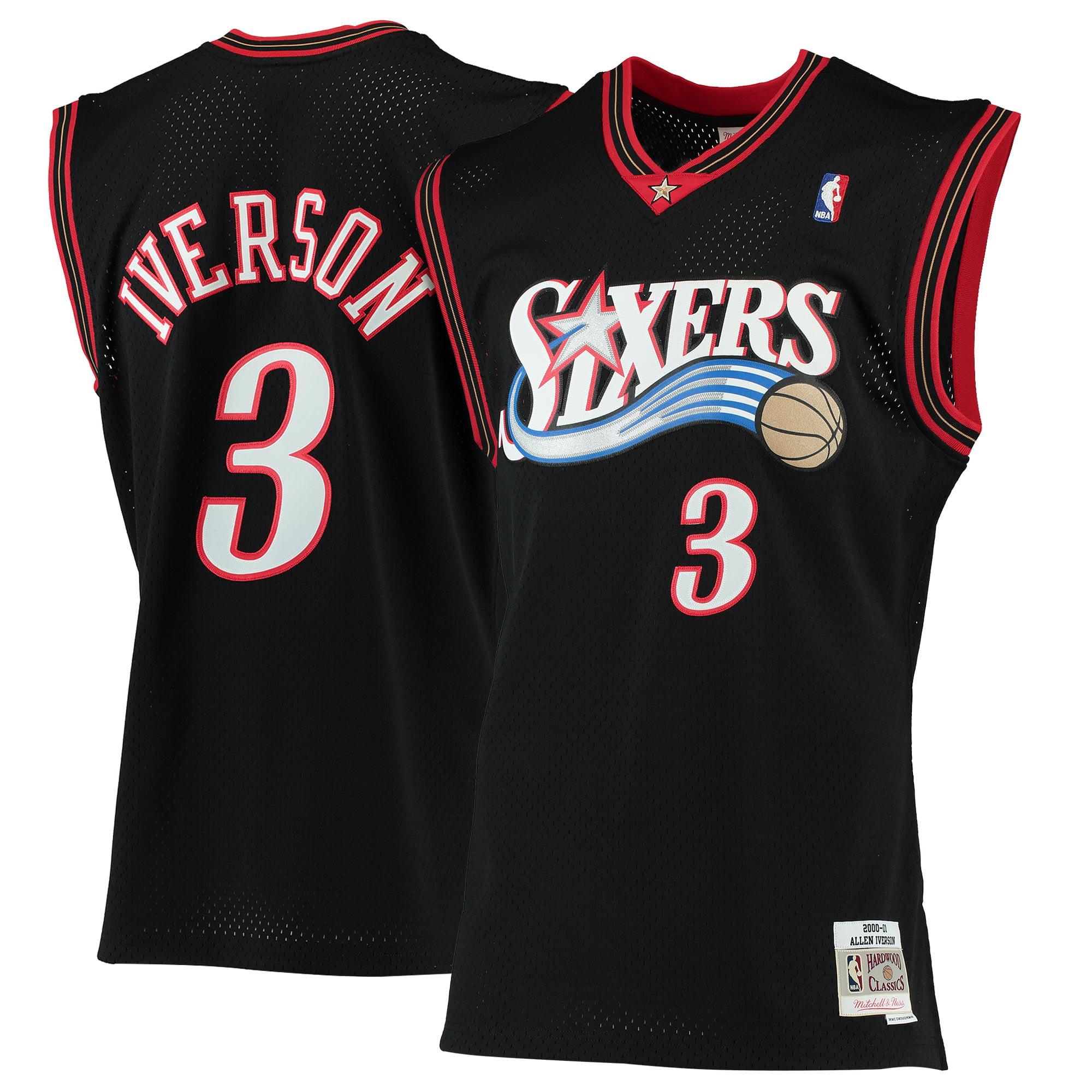Allen Iverson Philadelphia 76ers Mitchell & Ness 2000-01 Hardwood Classics Swingman Jersey - Black