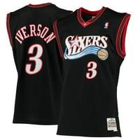 951b495ab7d Product Image Philadelphia 76ers Allen Iverson Black Mitchell   Ness Swingman  Jersey ...