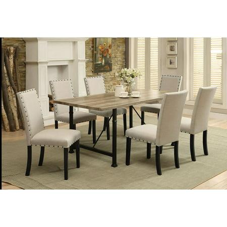 Acme Furniture Old Lake 7 Piece Rectangular Dining Table (Acme Furniture Set Table)