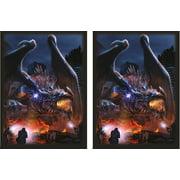 HASTA LA VISTA 100 Matching GLOSS Finish Dragon Invasion Sleeves by MAX PRO (fits Magic / MTG Cards)