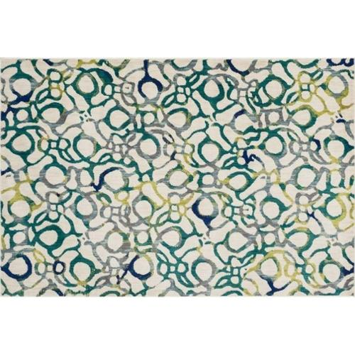 Loloi Rugs MADEMZ-21TEML2030 Madeline Collection Contemporary Area Rug, 2-Feet by 3-Feet, Teal/Multi