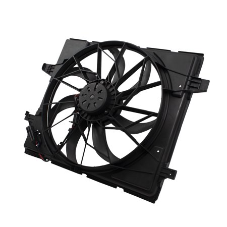 BROCK Radiator Cooling Fan Assembly for 11-18 Dodge Durango Jeep Grand Cherokee w/ Standard Duty Cooling 55037992AD