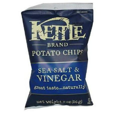 Product Of Kettle Brand, Sea Salt & Vinegar Chips, Count 6 (2 oz) - Chips / Grab Varieties &