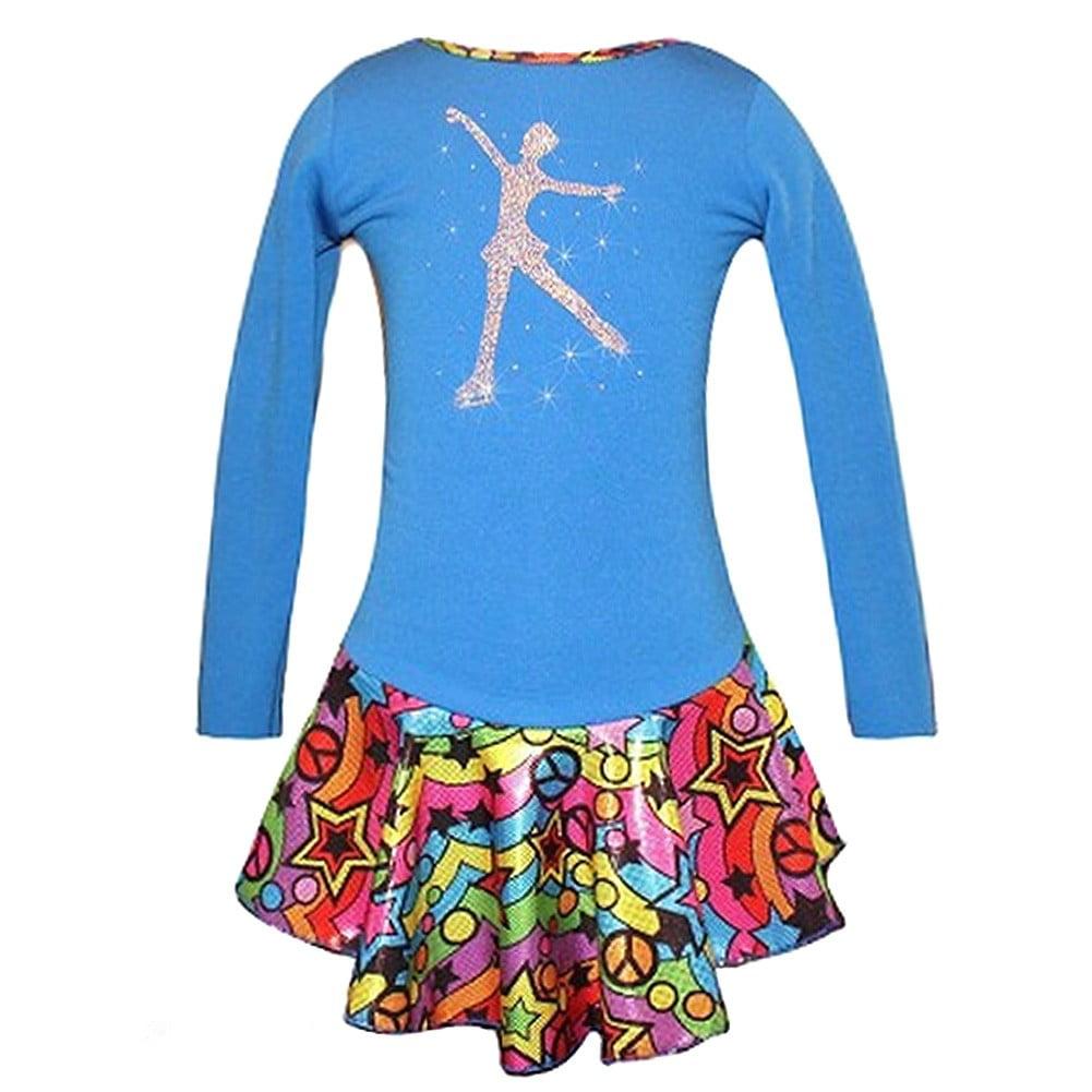 Ice Fire Skate Wear Blue Peace Star Rainbow Skate Girl Dr...