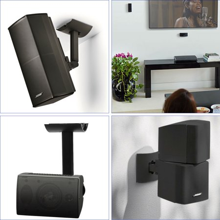 Lifestyle UB-20 SERIES II Bracket, TSV Wall Ceiling Bracket Mount Support For Lifestyle UB-20 SERIES 2 II Speaker Black