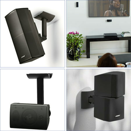 Country Copper Wall Bracket - Lifestyle UB-20 SERIES II Bracket, TSV Wall Ceiling Bracket Mount Support For Lifestyle UB-20 SERIES 2 II Speaker Black