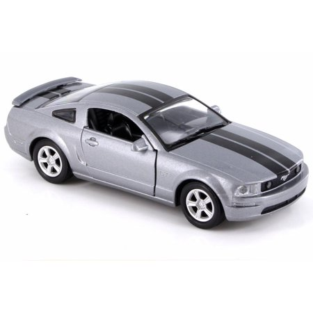 2005 Ford Mustang GT, Gray w/ Black Stripes - New Ray SS-51951 - 1/32 Scale Diecast Model Toy Car (Brand New but NO BOX)