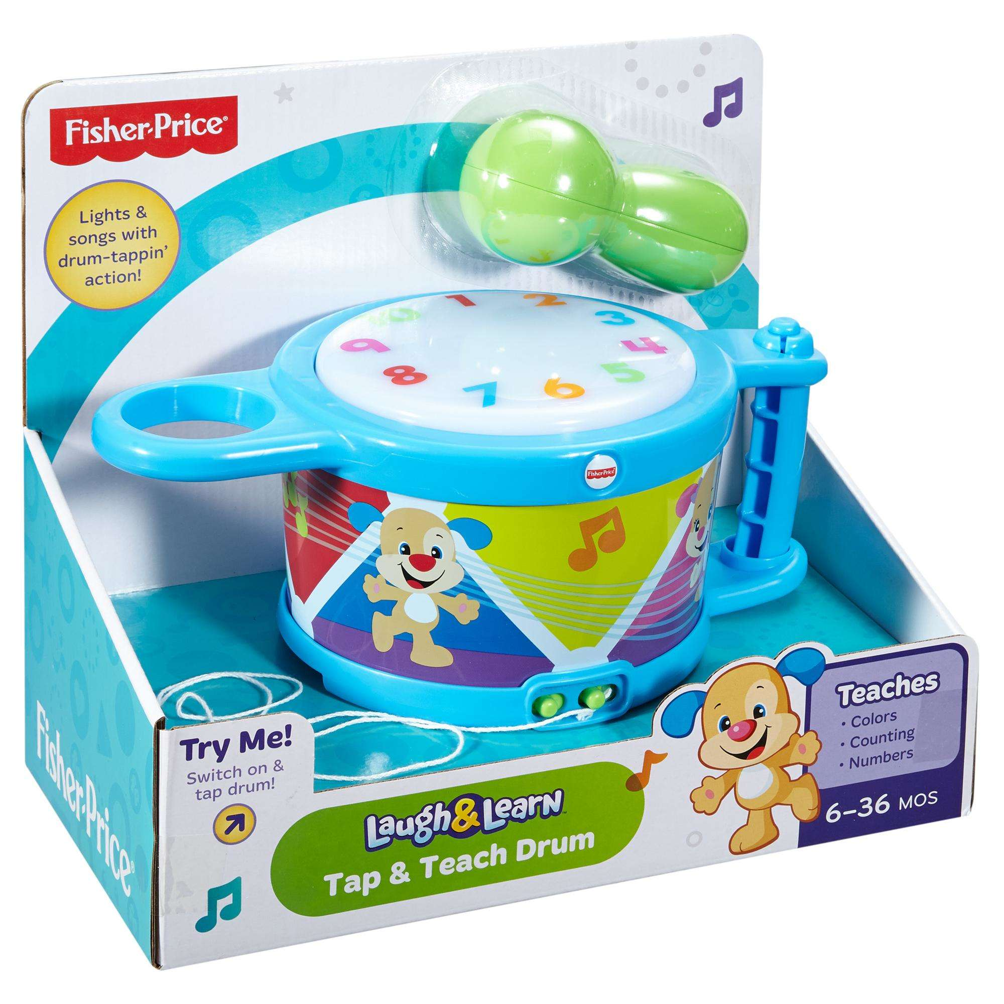 Fisher-Price Laugh & Learn Tap & Teach Drum - Walmart.com
