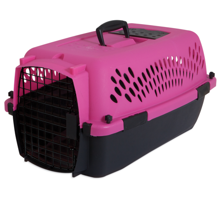 "Aspen Pet Pet Porter Fashion Kennel Dark Pink 23"" Up To 15lbs"