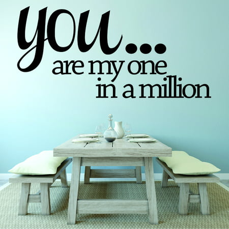 Custom Designs You... Are My One In A Million. Love Life Quote 12x18 Inches