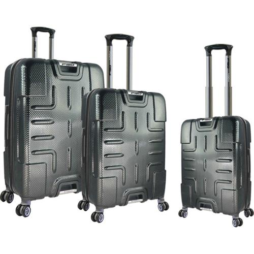 Traveler's Club Ford F-150 Series 3-piece Textured Polycarbonate Spinner Luggage Set Black