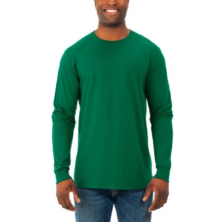 Terramar Men Crew Tee (Men's Soft Long Sleeve Lightweight Crew T Shirt, 2)
