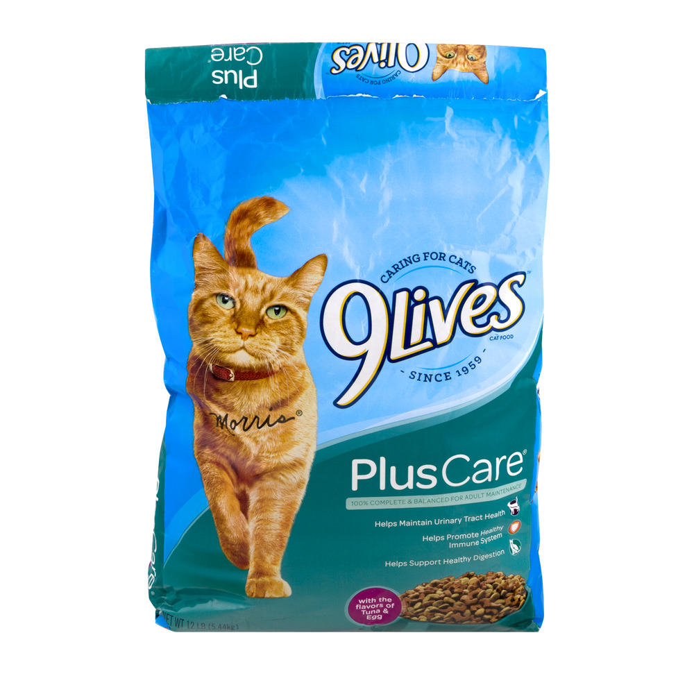 9Lives Cat Food Plus Care Tuna & Egg, 12.0 LB