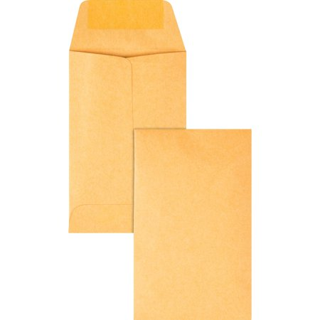 - Quality Park, QUA50160, Kraft Coin Envelopes, 500 / Box, Brown Kraft