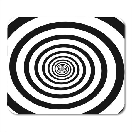 LADDKE Swirl of Spiral Radial Rays Twirl Twisted Comic Effect Vortex Hypnotic Vertigo Mousepad Mouse Pad Mouse Mat 9x10 inch