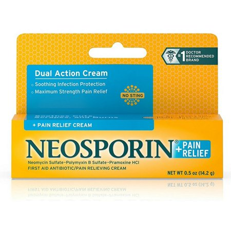 2 Pack - Neosporin Plus Pain Relief Cream, Maximum Strength, 0.5
