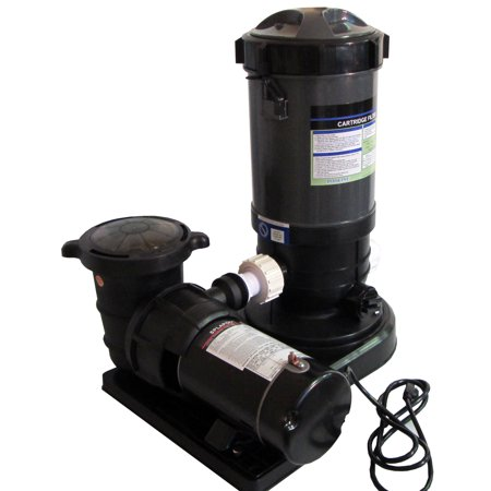 Above-Ground Swimming Pool Cartridge Filter System with 2 Speed Pump 1 HP - image 2 de 2
