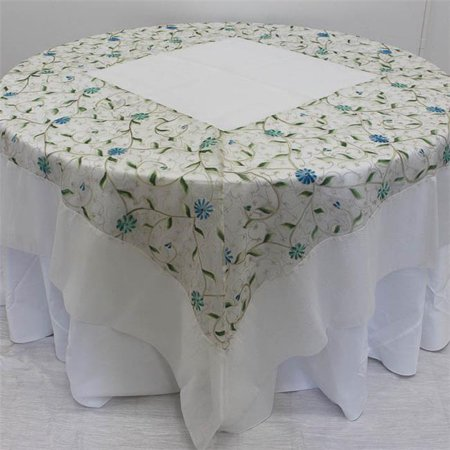 Decorative Tablecloth - Embroidered Floral - image 1 de 1