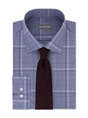 Michael Kors Mens Regular Fit Button Up Dress Shirt navy 16 1/2