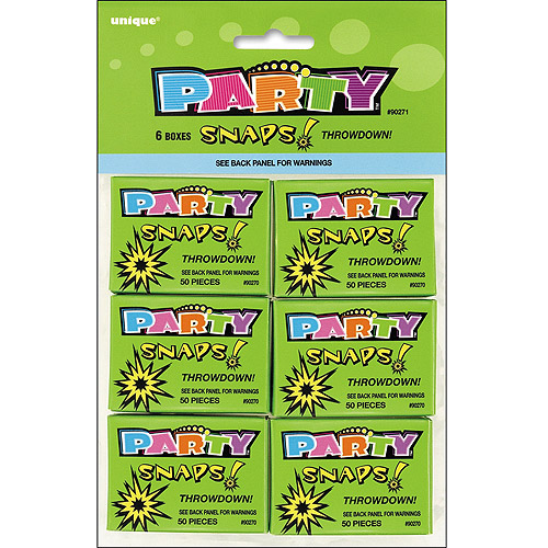 Party Favors, 6-Pack, Snaps, 50 Count