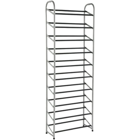 Mainstays™ 10-Tier Narrow Shoe Rack, Versatile Design for All Shoe Types ()