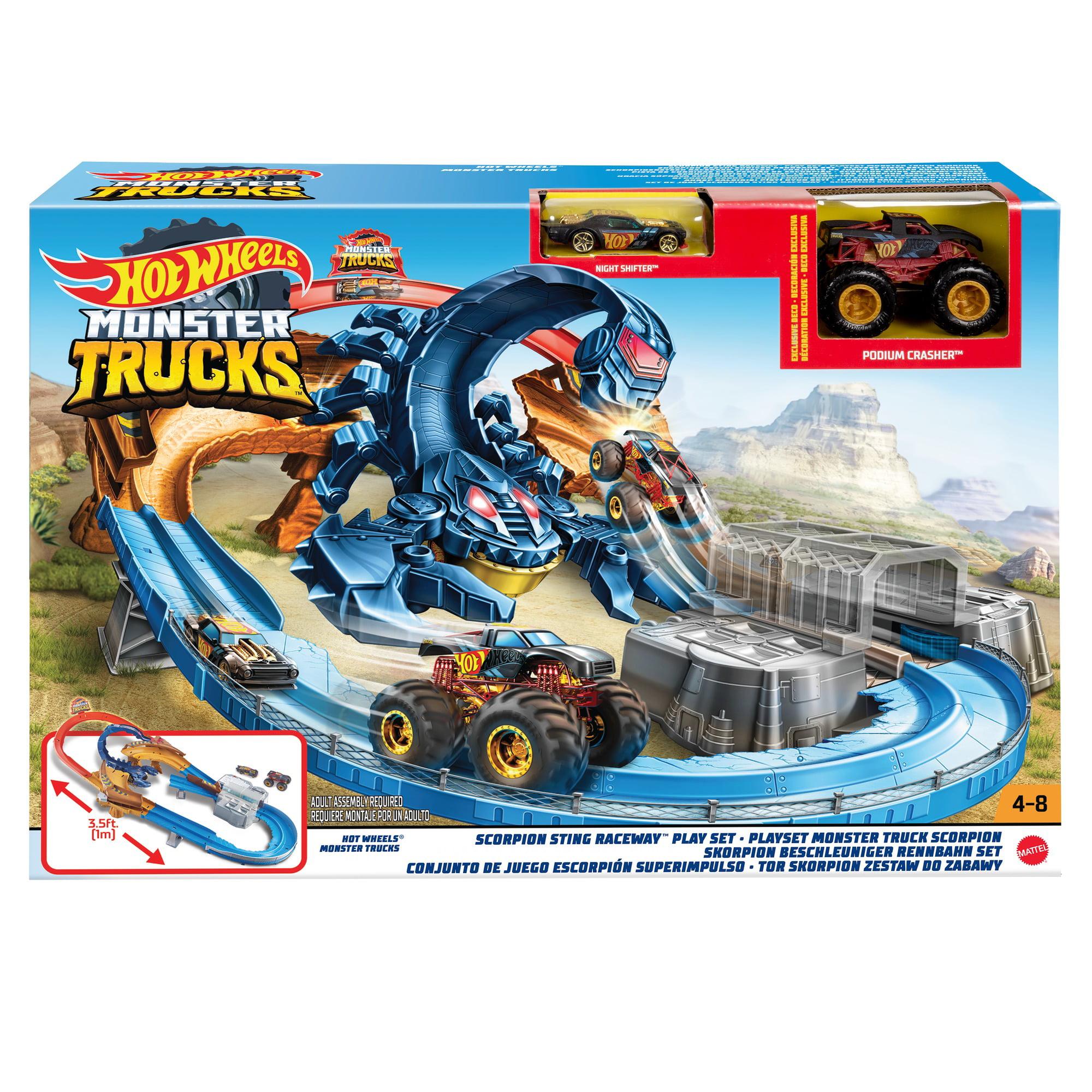 Hot Wheels Monster Truck Scorpion Sting Raceway Walmart Com Walmart Com