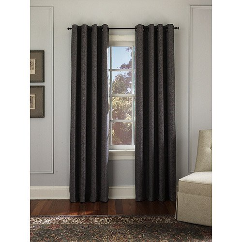 Hugo Tweed Grommet Panel Dark Grey