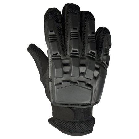 09 Paintball Gloves (Mafoose Full Finger Plastic Back Airsoft Paintball Tactical Gloves Black XL )
