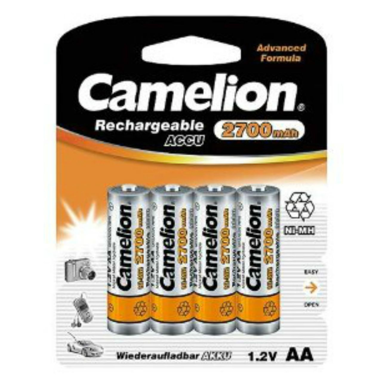 Camelion AA Rechargeable NiMH Batteries 2700mAH 4 Pack Retail + FREE SHIPPING!