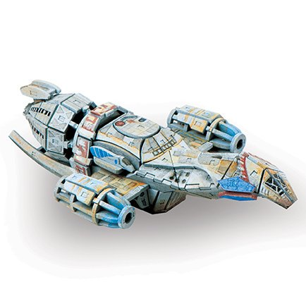 Firefly Serenity 3D Wood Model Kit and Book - Build, Paint and Collect Your Own Wooden Model - Great For Kids and Adults - 12+ ()