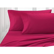 King Size - 4pc Sheet Set - Fuchsia - Poly-Cotton Blend, 300TC,-Hospitality Grade, Comfortable and Durability - by Pacific Linens (Fuchsia)