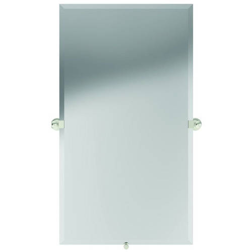 "Ginger 4542/PN Columnar 36"" Rectangular Pivoting Portrait Mirror, Polished Nickel"