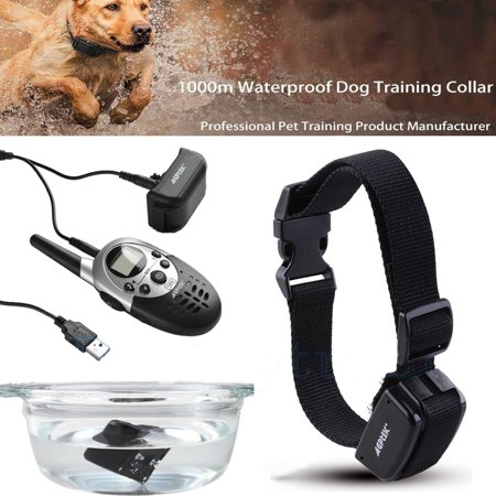 1000 Yard Hunting Rechargeable Dog Training Shock Collar with Remote and Adjustable Collar Length