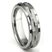 Titanium Kay Tungsten Carbide Spinning Comfort Fit Mens Wedding Band Ring Sz 10.0