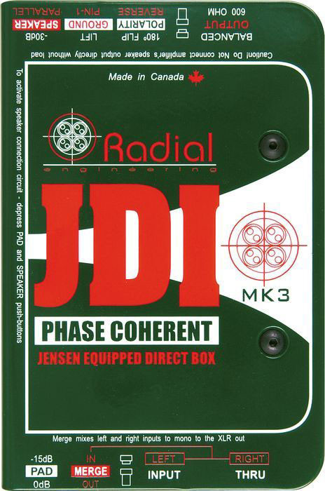 Radial JDI MK3 Passive Direct Box by Radial Engineering