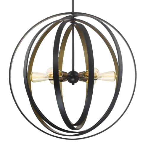 "Quoizel CCT2830 Circuit 6 Light 30"" Wide Single Tier Globe Chandelier by Quoizel"