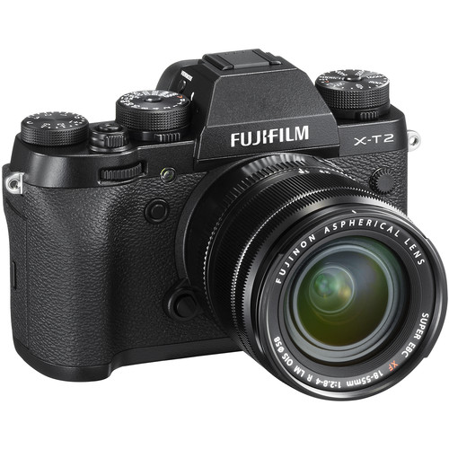 Fujifilm X-T2 Mirrorless Digital Camera with 18-55mm Lens - Black