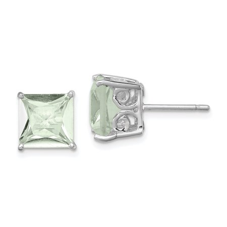 925 Sterling Silver Green Quartz Post Stud Earrings Gemstone Fine Jewelry For Women Valentines Day Gifts For Her - image 6 de 6