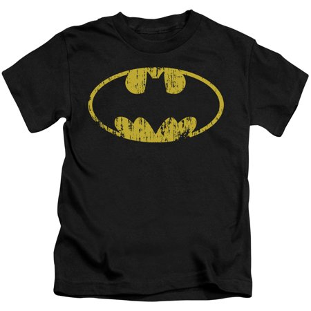 Batman Boys' Classic Logo Distressed Childrens T-shirt Black - Childrens Clothes Shops