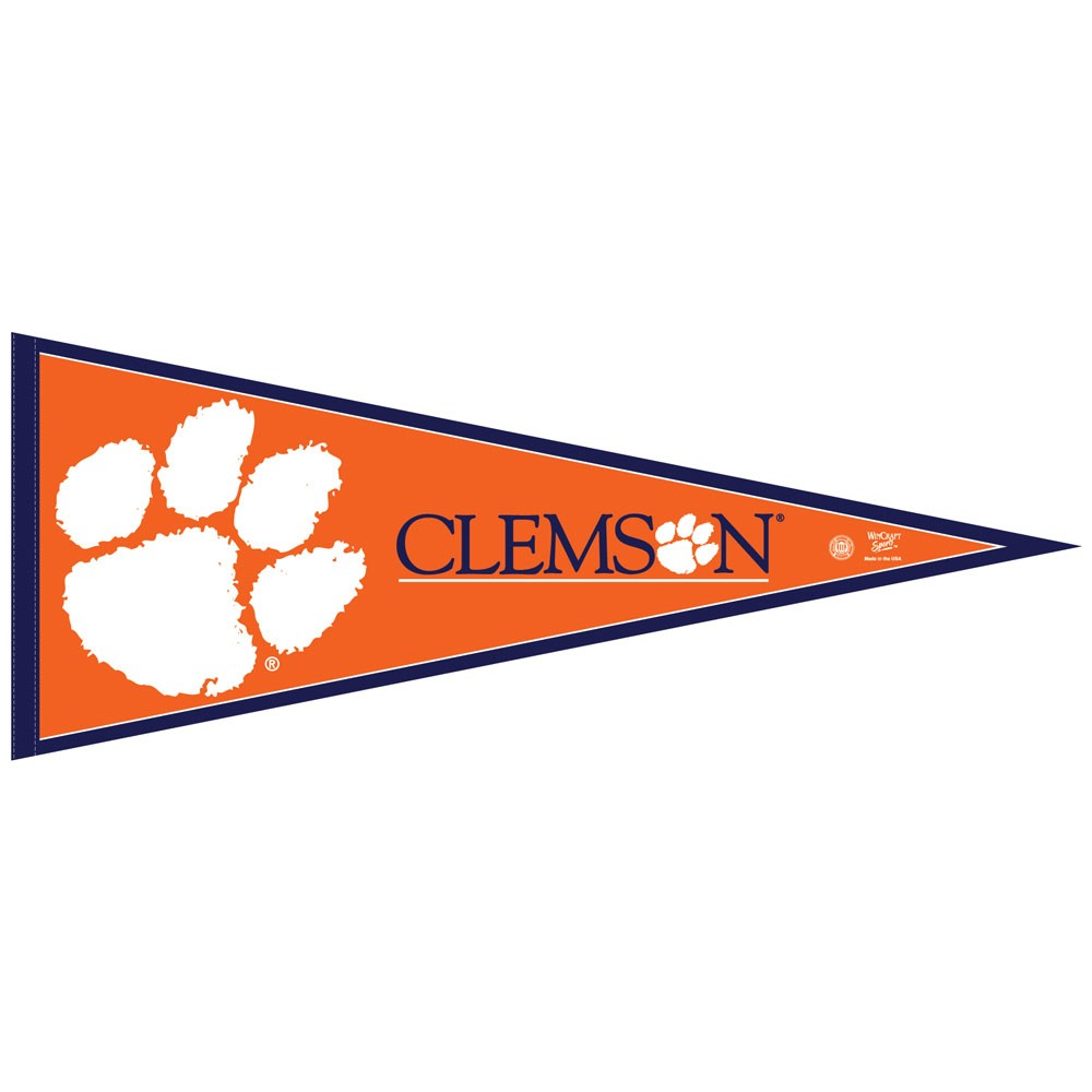 Clemson Tigers Official NCAA 12 inch x 30 inch Felt Pennant by Wincraft