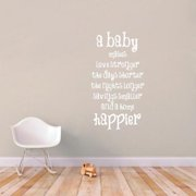 Sweetums A Baby Makes A Home Happier Large Wall Decal