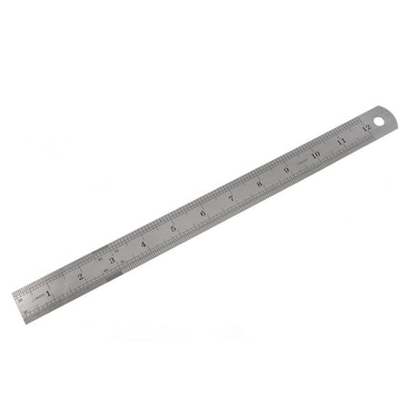 Double Side Marked 30cm 12 inch Stainless Steel Straight Ruler - image 1 of 1