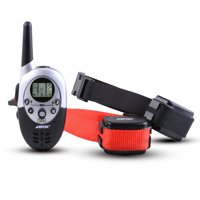 AGPtek Rainproof 1000 Yard 2 Dog Shock Training Collar with Remote Rechargeable 4 levels