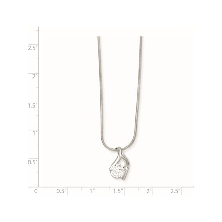 925 Sterling Silver CZ & Chain Pendant / Charm - image 1 of 2