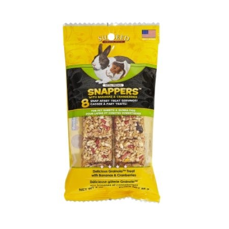 Sunseed Vita Prima Snappers Banana & Cranberry Rabbit & Guinea Pig Treats, 2 Oz
