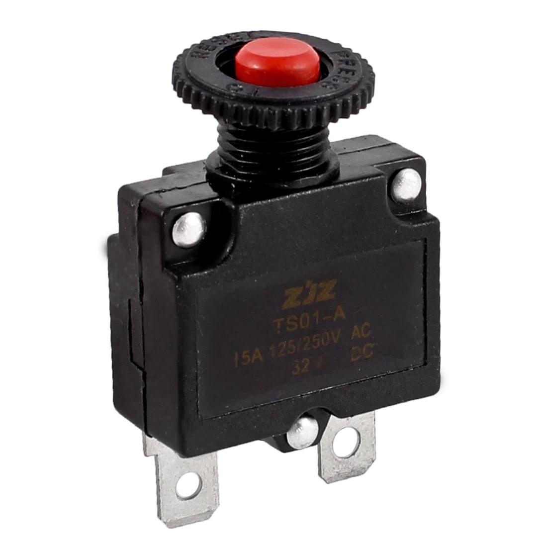 AC125/250V 15A 2 Pins Air Compressor Circuit Breaker Overload Protector